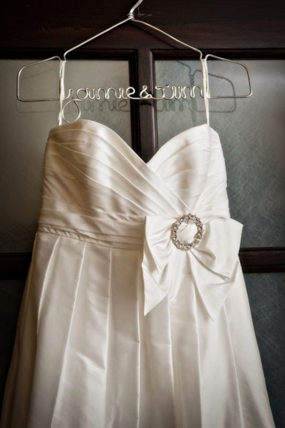 Trend custom handmade wire hangers for your fabulous for Personalized wire wedding dress hanger