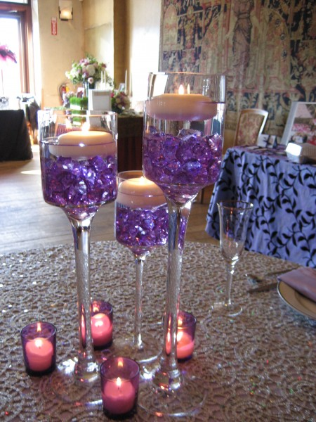 modern wedding centerpieces no flowers