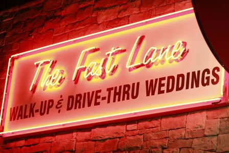 i found the concept of a wedding walk up and drive thru to