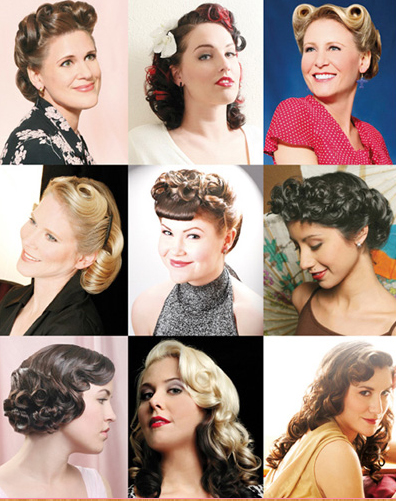 pin up hairstyles. Vintage Glam: Hairstyles From