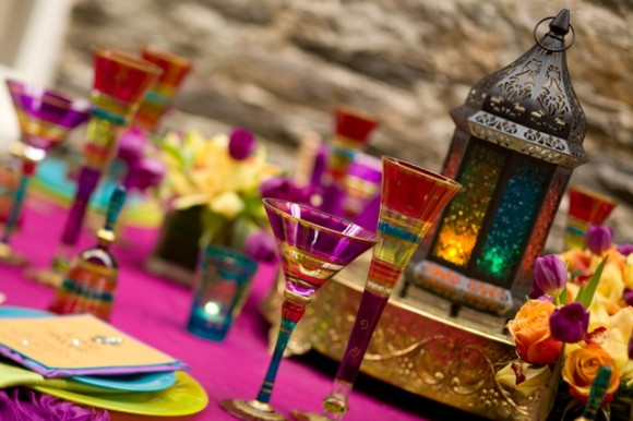 Tablescape Inspiration A Bold Colorful And Festive Table Setting & moroccan table settings decor u2013 Loris Decoration